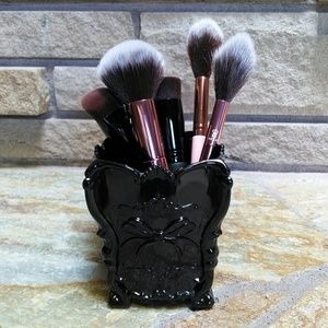 Other - Black Gothic butterfly bow makeup brush holder